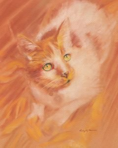 Azzie - pastel and pencil