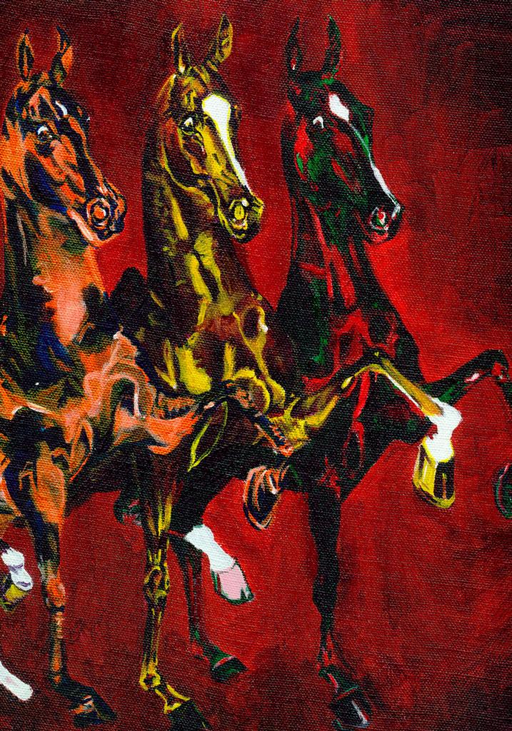 Color Horses - acrylic on canvas