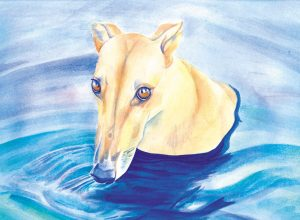 Essie Swims - watercolor