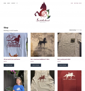 Saddelbred Creations Online Store