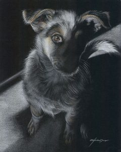 Young Sunshine - colored pencil on colored paper